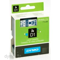 Dymo S0720940 D1 53714 Tape 24mm x 7m Blue on White