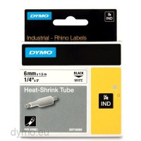 Dymo RHINO 18051 heat shrink tubing black on white 6mm