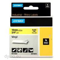 Dymo RHINO 18433 vinyl black on yellow 19mm