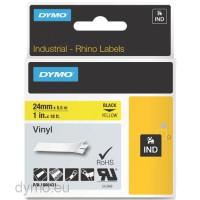 Dymo RHINO 1805431 vinyl black on yellow 24mm