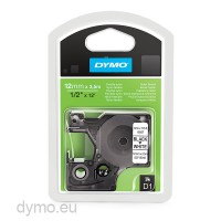 Dymo S0718040 16957 D1 Flexible Nylon Tape 12mm x 3,5m Black on White