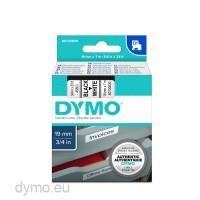 Dymo S0720830 D1 45803 Tape 19mm x 7m Black on White