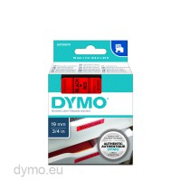 Dymo S0720870 D1 45807 Tape 19mm x 7m Black on Red