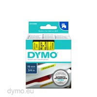 19mm X 7m BLACK ON CLEAR 45800 3X COMPATIBLE DYMO D1 SERIES STANDARD LABELLING TAPES