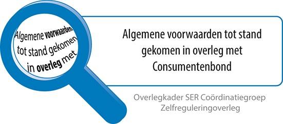 Algemene voorwaarden tot stand gekomen in overleg met Consumentenbond